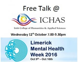 Free talk at ichas for limerick mental health week
