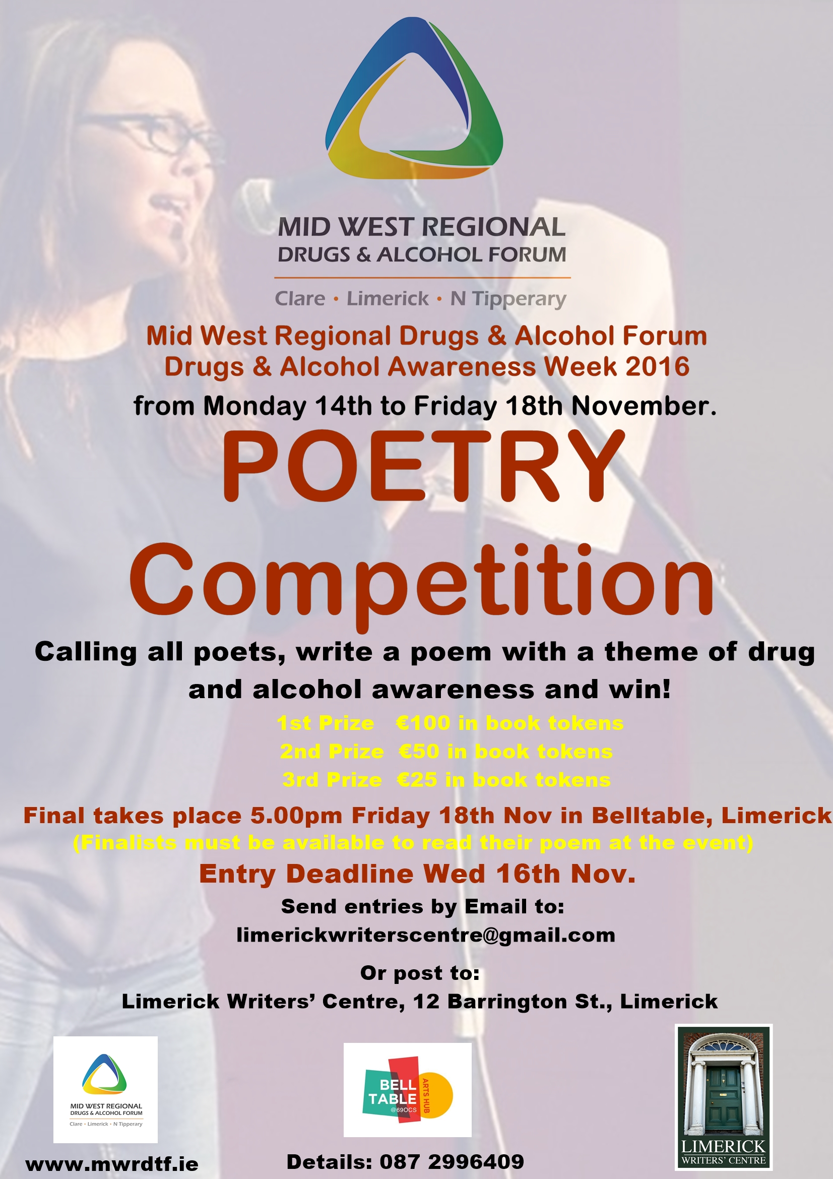 Poetry Competition Drug Alcohol Awareness week