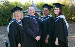 Pictured at the ICHAS Graduations held in the Castletroy Park Hotel Limerick were: Theresa Storm,M.A. Masters in Counselling and Psychotherapy,Limerick, Alan Galvin, M.A. Masters in Counselling and Psychotherapy, Limerick & Ann Piercey, B.A. Counselling Skills and Psychotherapy Studies, Limerick & Rebecca Griffin,B.A (Hons) in Counselling & Psychtherapy 2015, from Feadmore Co.Limerick Picture Credit Brian Gavin Press 22