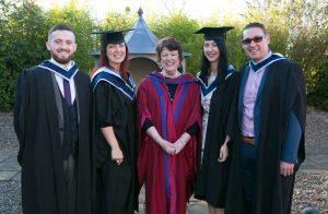 Pictured at the ICHAS Graduations held in the Castletroy Park Hotel Limerick were: Niall Curley, B.A (Hons) in Counselling & Psychtherapy 2015, Galway, Ingrid Paliukaite,M.A. Masters in Counselling and Psychotherapy, Galway, Dr Jane Alexander, ICHAS, Lisa Ryan, B.A Counselling Skills and Psychotherapy Studies, Galway & Lloyd Kelly, B.A Counselling Skills and Addiction Studies, Galway Picture Credit Brian Gavin Press 22